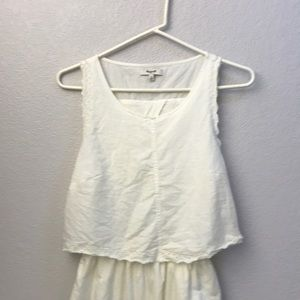 Madewell Linen dress with back detail